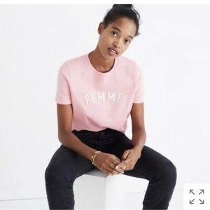 NWT Madewell Pink Femme Short Sleeve Shirt